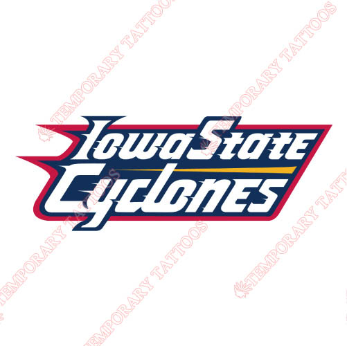 Iowa State Cyclones Customize Temporary Tattoos Stickers NO.4658