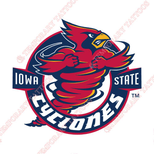 Iowa State Cyclones Customize Temporary Tattoos Stickers NO.4661