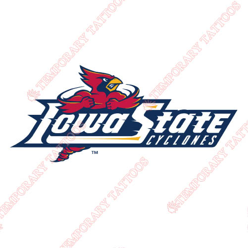 Iowa State Cyclones Customize Temporary Tattoos Stickers NO.4662