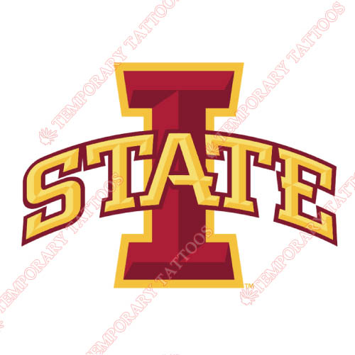 Iowa State Cyclones Customize Temporary Tattoos Stickers NO.4664