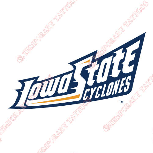Iowa State Cyclones Customize Temporary Tattoos Stickers NO.4668