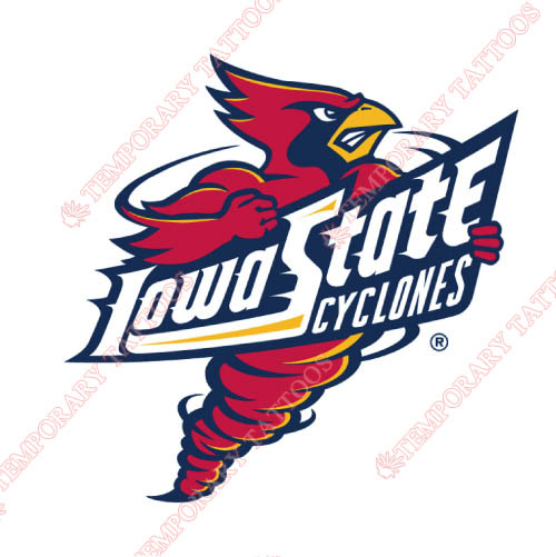 Iowa State Cyclones Customize Temporary Tattoos Stickers NO.4669
