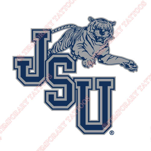 Jackson State Tigers Customize Temporary Tattoos Stickers NO.4683