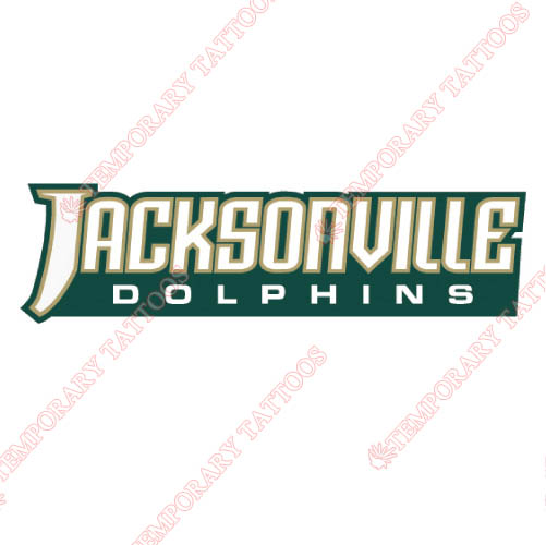 Jacksonville Dolphins Customize Temporary Tattoos Stickers NO.4685