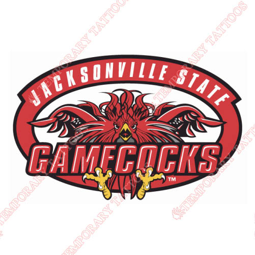 Jacksonville State Gamecocks Customize Temporary Tattoos Stickers NO.4689