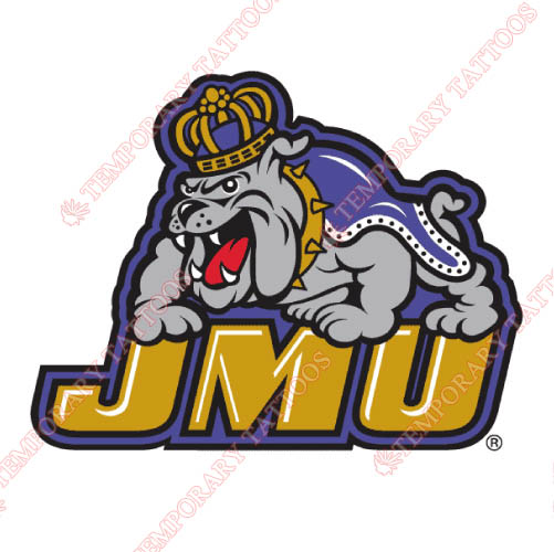 James Madison Dukes Customize Temporary Tattoos Stickers NO.4696