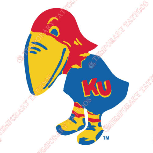 Kansas Jayhawks Customize Temporary Tattoos Stickers NO.4700
