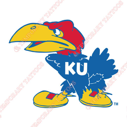 Kansas Jayhawks Customize Temporary Tattoos Stickers NO.4701