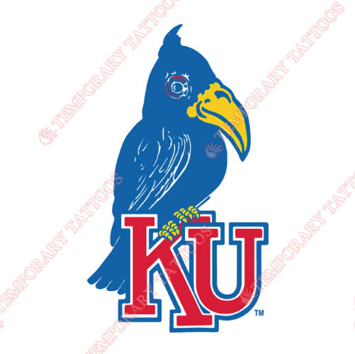Kansas Jayhawks Customize Temporary Tattoos Stickers NO.4702