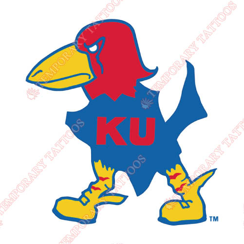 Kansas Jayhawks Customize Temporary Tattoos Stickers NO.4705