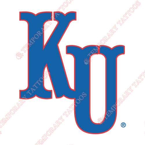 Kansas Jayhawks Customize Temporary Tattoos Stickers NO.4706