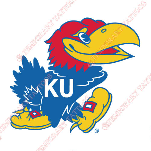 Kansas Jayhawks Customize Temporary Tattoos Stickers NO.4707