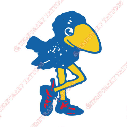 Kansas Jayhawks Customize Temporary Tattoos Stickers NO.4708
