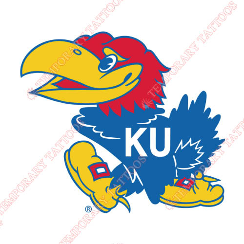 Kansas Jayhawks Customize Temporary Tattoos Stickers NO.4709