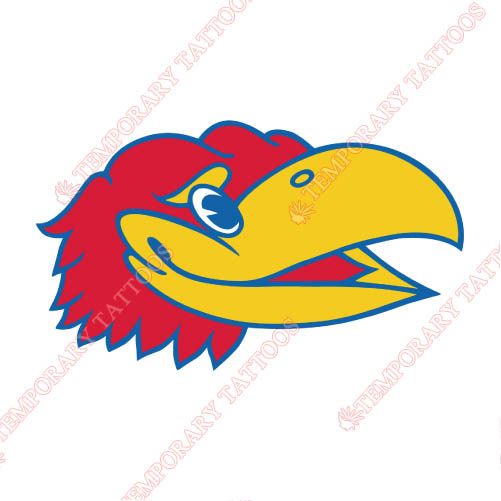 Kansas Jayhawks Customize Temporary Tattoos Stickers NO.4710