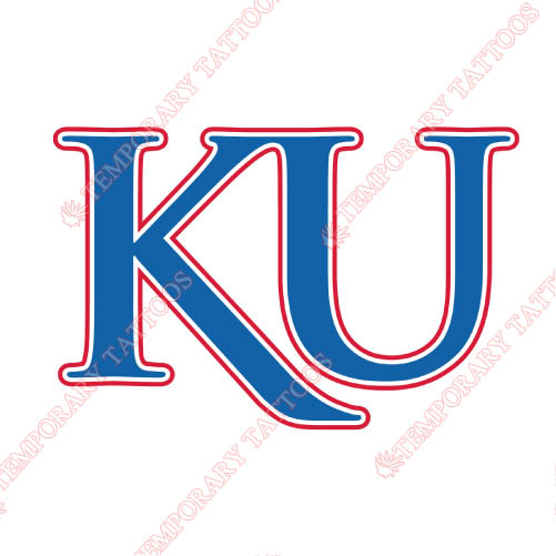 Kansas Jayhawks Customize Temporary Tattoos Stickers NO.4711