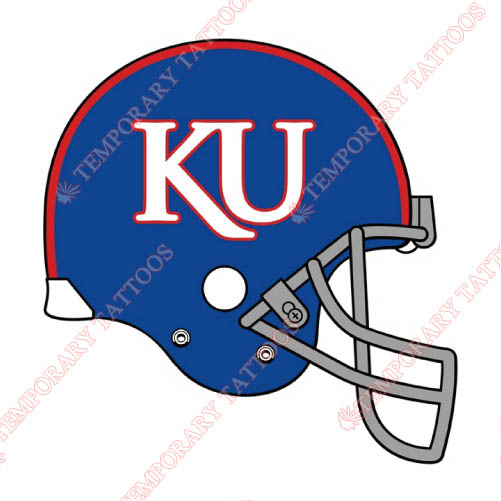 Kansas Jayhawks Customize Temporary Tattoos Stickers NO.4712