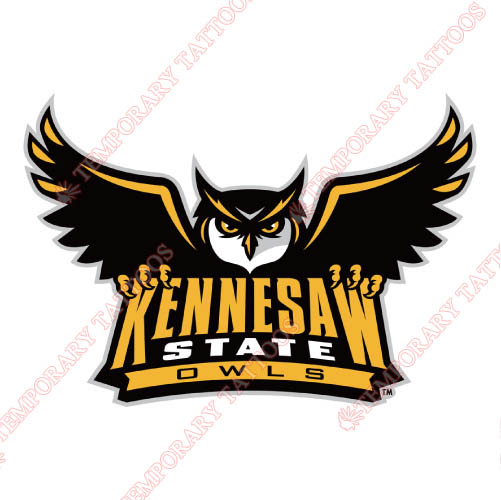 Kennesaw State Owls Customize Temporary Tattoos Stickers NO.4723