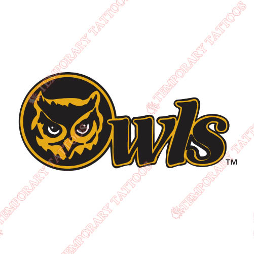 Kennesaw State Owls Customize Temporary Tattoos Stickers NO.4726