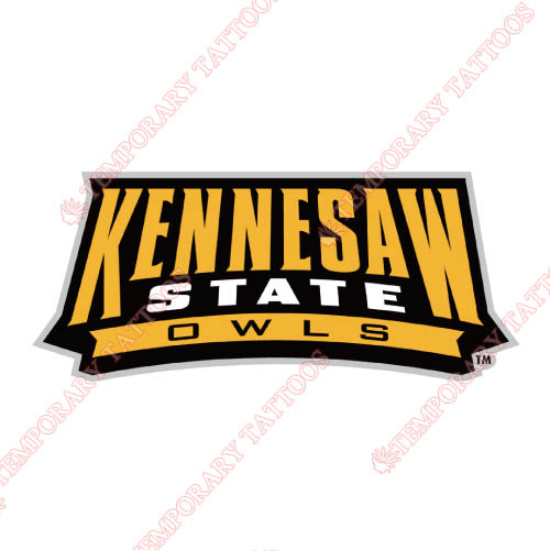 Kennesaw State Owls Customize Temporary Tattoos Stickers NO.4732