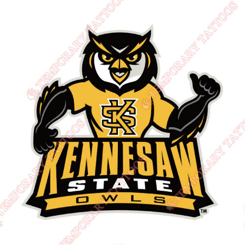 Kennesaw State Owls Customize Temporary Tattoos Stickers NO.4736