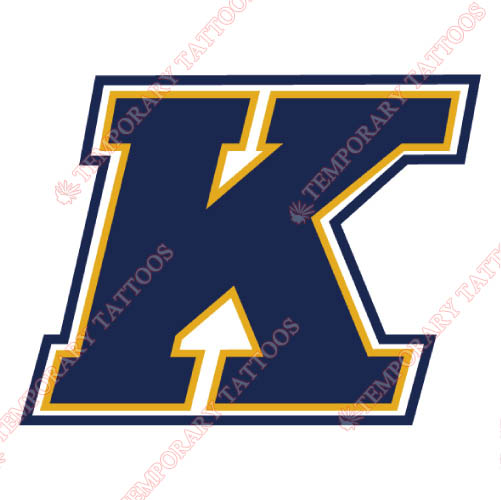 Kent State Golden Flashes Customize Temporary Tattoos Stickers NO.4740