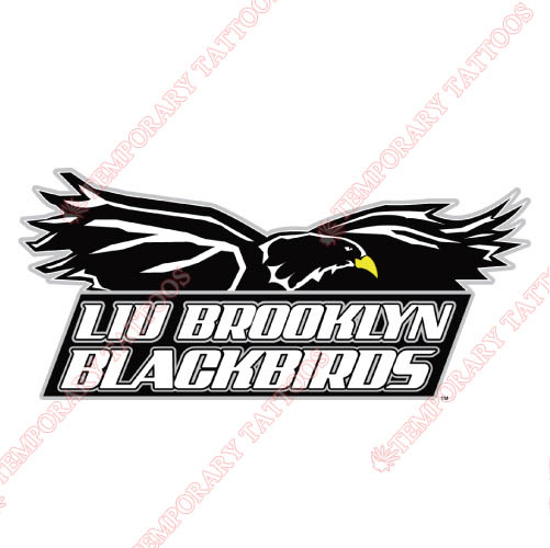 LIU Brooklyn Blackbirds Customize Temporary Tattoos Stickers NO.4801