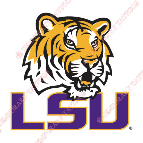 LSU Tigers Customize Temporary Tattoos Stickers NO.4908