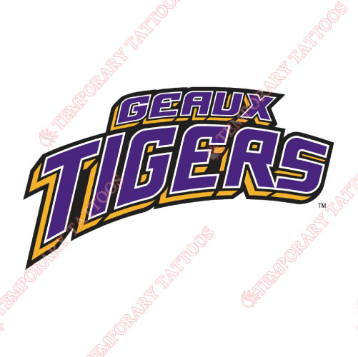 LSU Tigers Customize Temporary Tattoos Stickers NO.4909