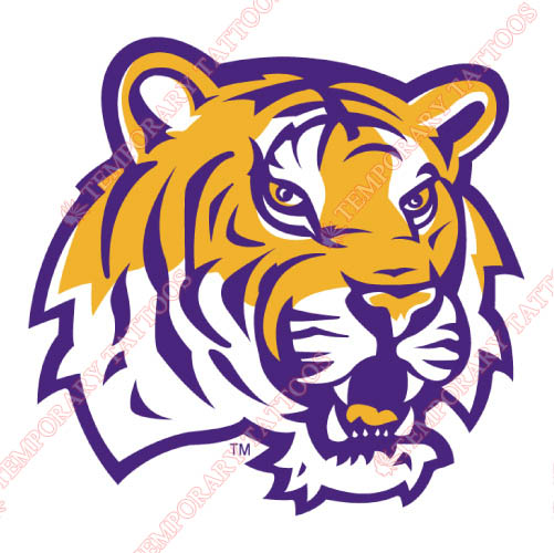 LSU Tigers Customize Temporary Tattoos Stickers NO.4910
