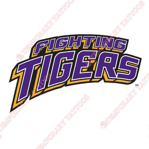 LSU Tigers Customize Temporary Tattoos Stickers NO.4911