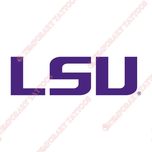 LSU Tigers Customize Temporary Tattoos Stickers NO.4912