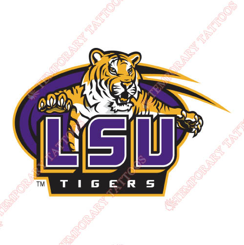 LSU Tigers Customize Temporary Tattoos Stickers NO.4913