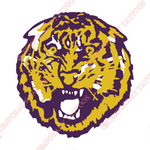LSU Tigers Customize Temporary Tattoos Stickers NO.4915