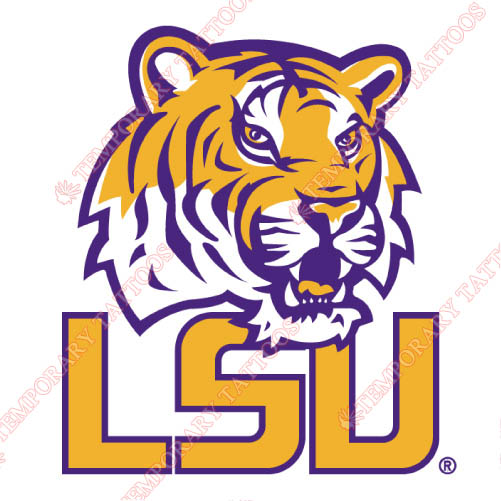 LSU Tigers Customize Temporary Tattoos Stickers NO.4916