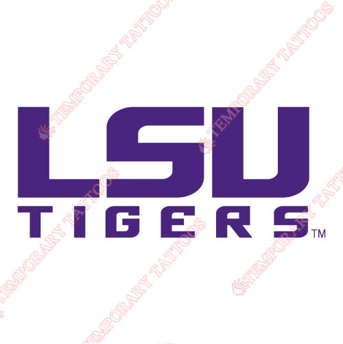 LSU Tigers Customize Temporary Tattoos Stickers NO.4918