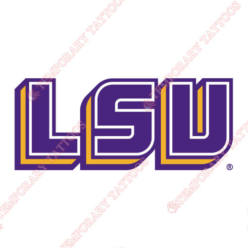 LSU Tigers Customize Temporary Tattoos Stickers NO.4919