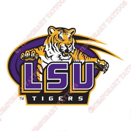 LSU Tigers Customize Temporary Tattoos Stickers NO.4920