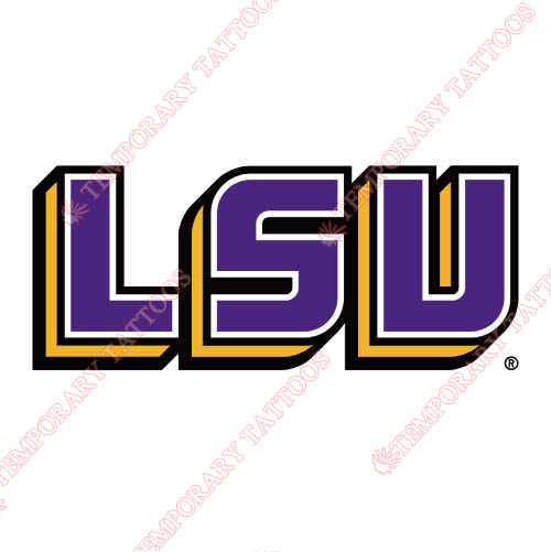 LSU Tigers Customize Temporary Tattoos Stickers NO.4923