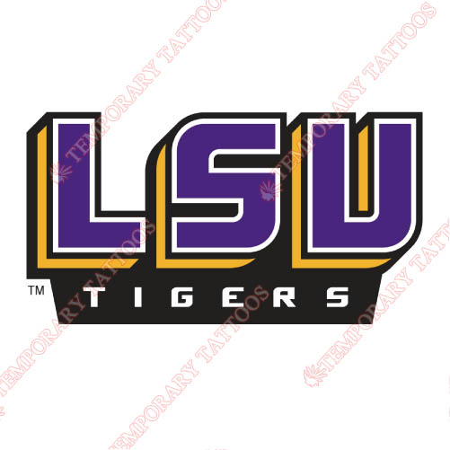 LSU Tigers Customize Temporary Tattoos Stickers NO.4924