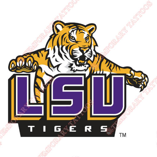 LSU Tigers Customize Temporary Tattoos Stickers NO.4926