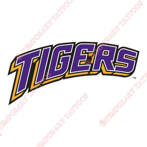 LSU Tigers Customize Temporary Tattoos Stickers NO.4928
