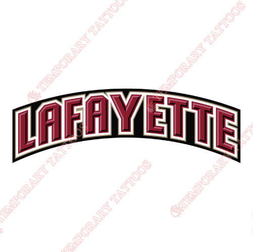 Lafayette Leopards Customize Temporary Tattoos Stickers NO.4764
