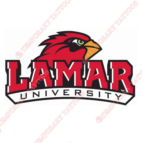 Lamar Cardinals Customize Temporary Tattoos Stickers NO.4777