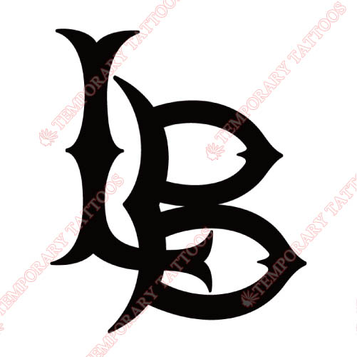 Long Beach State 49ers Customize Temporary Tattoos Stickers NO.4805