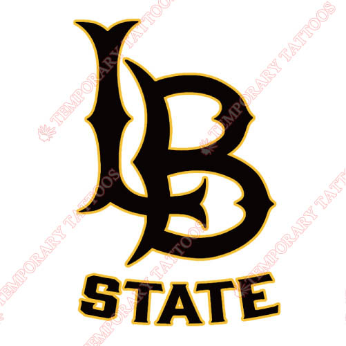Long Beach State 49ers Customize Temporary Tattoos Stickers NO.4808