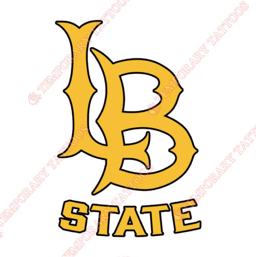 Long Beach State 49ers Customize Temporary Tattoos Stickers NO.4809