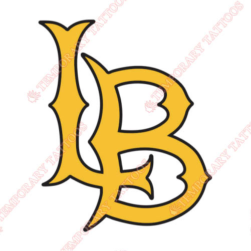 Long Beach State 49ers Customize Temporary Tattoos Stickers NO.4810
