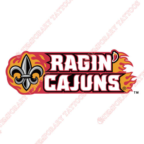 Louisiana Ragin Cajuns Customize Temporary Tattoos Stickers NO.4841