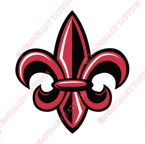 Louisiana Ragin Cajuns Customize Temporary Tattoos Stickers NO.4842